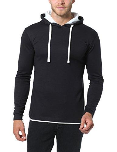 b6ca0c6e08 Lower East Men's Slim Fit Long Sleeve Hoodie – Black ...