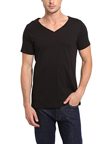 df0f72c3f51 Lower East Men s pack of 3 basic T-shirts with deep V-neck
