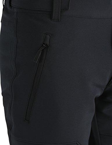 FLYGAGA Homme Pantalon Softshell Doubl/é Polaire Coupe-Vent Imperm/éable Outdoor Sport Camping Randonn/ée Trekking Pantalon